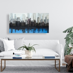 Canvas 24 x 48 - View of a blue city