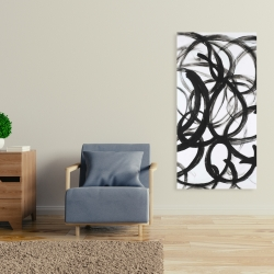Canvas 24 x 48 - Abstract curly lines