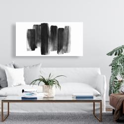 Canvas 24 x 48 - Black shapes