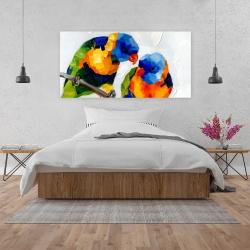 Canvas 24 x 48 - Couple of parrots