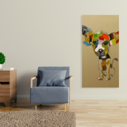 Canvas 24 x 48 - Abstract colorful chihuahua