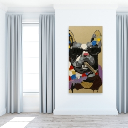Canvas 24 x 48 - Abstract smoking dog