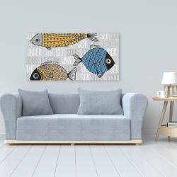 Canvas 24 x 48 - Fishes' illustration