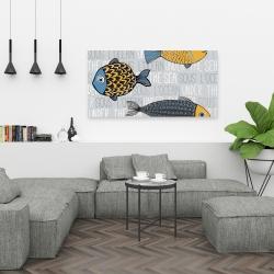 Canvas 24 x 48 - Illustration of nautical fish