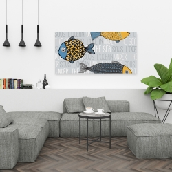 Canvas 24 x 48 - Illustration of nautical fish