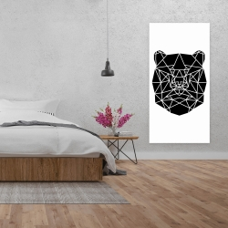 Canvas 24 x 48 - Geometric bear head