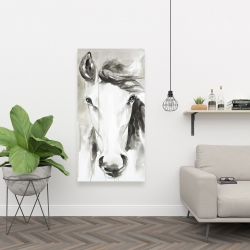 Canvas 24 x 48 - Beautiful abstract horse
