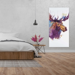 Canvas 24 x 48 - Abstract moose