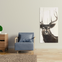 Canvas 24 x 48 - Abstract deer