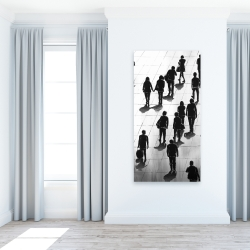 Canvas 24 x 48 - Silhouettes of people on the street