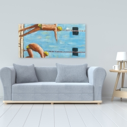 Canvas 24 x 48 - Swimmers