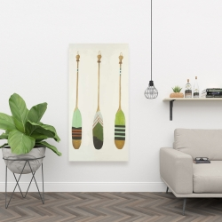 Canvas 24 x 48 - Colorful nautical oars