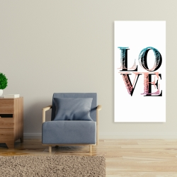 Canvas 24 x 48 - Colorful love