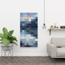 Canvas 24 x 48 - Pixelated mountainous landscape