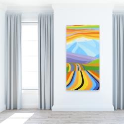 Canvas 24 x 48 - Mountain road multicolored