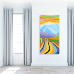 Canvas 24 x 48 - Mountain road multicolored