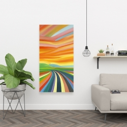 Canvas 24 x 48 - Colorful road