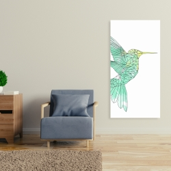 Canvas 24 x 48 - Geometric hummingbird