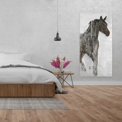Canvas 24 x 48 - Abstract brown horse