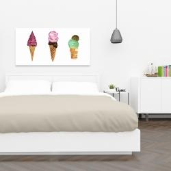 Canvas 24 x 48 - Ice cream cones