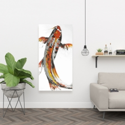 Canvas 24 x 48 - Butterfly koi fish