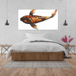 Canvas 24 x 48 - Red butterfly koi fish