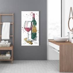 Canvas 24 x 48 - Bottle of red wine