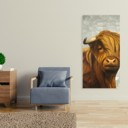Canvas 24 x 48 - Highland cattle