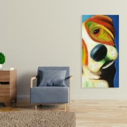 Canvas 24 x 48 - Colorful beagle dog