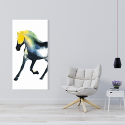 Canvas 24 x 48 - Galloping colorful horse