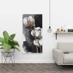 Canvas 24 x 48 - Watercolor cotton flowers