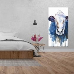 Toile 24 x 48 - Vache à l'aquarelle