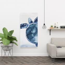 Canvas 24 x 48 - Watercolor blue turtle