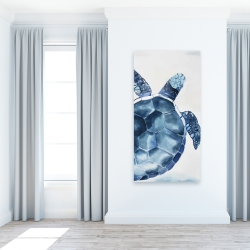 Canvas 24 x 48 - Blue turtle
