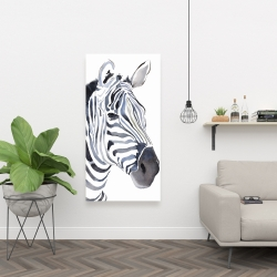 Canvas 24 x 48 - Watercolor zebra