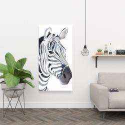 Canvas 24 x 48 - Watercolor zebra