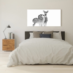 Canvas 24 x 48 - Fawns love