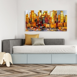 Canvas 24 x 48 - Orange buildings