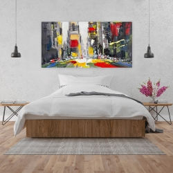 Canvas 24 x 48 - Abstract texturized cityscape