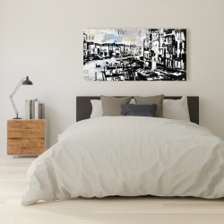 Canvas 24 x 48 - Abstract venise port