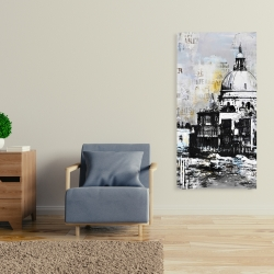 Canvas 24 x 48 - Abstract city with typography