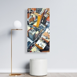 Canvas 24 x 48 - High top view of buildings in new york