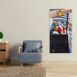 Canvas 24 x 48 - Fashionable woman with glasses