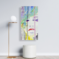 Canvas 24 x 48 - Abstract colorful portrait