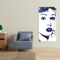 Canvas 24 x 48 - Audrey hepburn: cigarillo