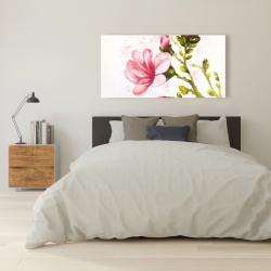 Canvas 24 x 48 - Watercolor magnolia flowers