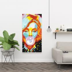 Canvas 24 x 48 - Colorful marilyne monroe bubblegum
