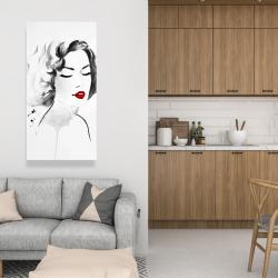 Canvas 24 x 48 - Watercolor woman