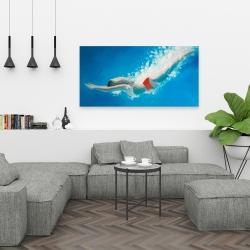 Canvas 24 x 48 - Diving jump