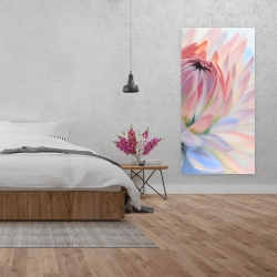 Canvas 24 x 48 - Lotus pastel flower